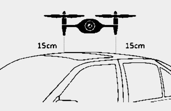 В BMW запатентовали дрона-мойщика машин